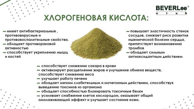 Полезные свойства хлорогеновых кислот